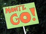 Salzkotten Marathon Schild: Monte Go!