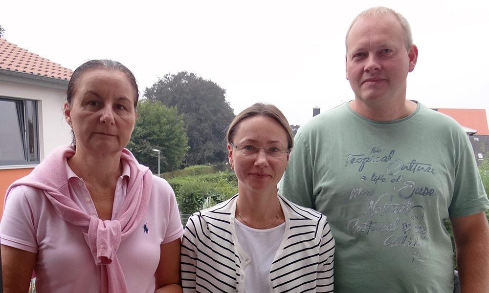 Team der Erdklasse: Michaela Linnhoff (Klassenleitung), Lioudmila Rößler (Lernbegleitung), Stefan Niggemeier (I-Kraft)