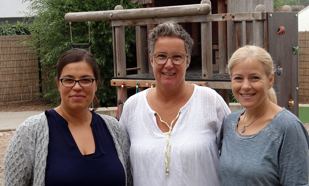 Team der Feuerklasse 2018-2019: Kerstin Sendler (I-Kraft), Monika Lumperda (Klassenleitung), Sabine Liekenbröcker (Lernbegleitung)