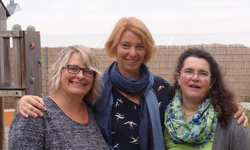 Karin Wulff (I-Kraft), Birgit Ullrich (Lernbegleitung), Bettina Schmid (Klassenleitung)
